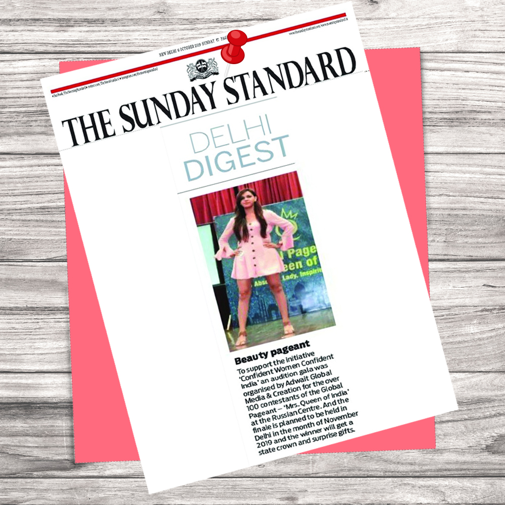 As Featured in Sunday Standards on 6 Oct 2019